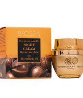 Bio spa anti-wrinkle night cream macadamia oil